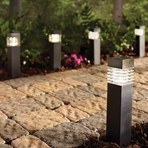 Sterno Home GL42077 Home 6-Pack Solar Bollard Lights, Black