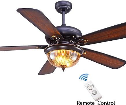 Amazon.es: lampara rustica - Ventiladores para el techo con ...