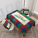Mantel Rojo de la Serie de Navidad, Mesa de Centro pequeña Fresca, Mantel de Armario de TV, encimera de Chimenea Rectangular M-2 140x200cm