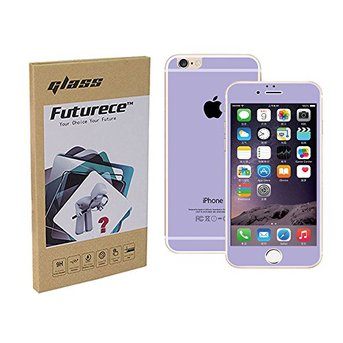 """Purpple Colorful Tempered Glass Screen Protector For iPhone 6 / iPhone 6S Security Guard Film Anti Bubble Extreme Clarity Shield Anti Scratch Fingerprint Resistant Explosion Proof Oleophobic 4.7""""Screen"""