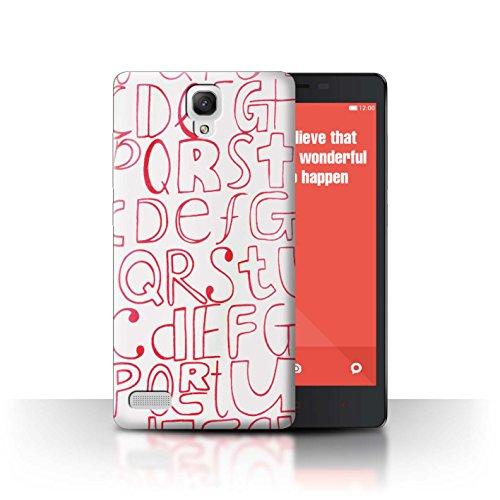 Stuff4 Var voor XIA-CC Home Textiles Xiaomi Redmi Note 4G Letters Huisraad