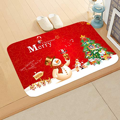 CTGVH Bedroom Carpet Doormat Soft Flannel Red Christmas...