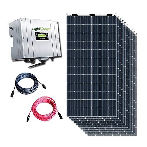 INTERACTIVE Kit Solar Autoconsumo 10 paneles 100W + Inversor 4kW + Cableado y conectores