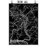 Mr. & Mrs. Panda Poster DIN A1 Stadt Koblenz Stadt Black -