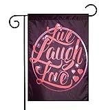 N/A Live Lachen Liebesherzen und Bokeh Hintergrund mit positivem Antrieb Boosting Zitat Lachs Dunkel Lila Rot Einseitig 12 X 18 Zoll