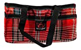 Kensington Horse Grooming Tote Bag — Handy Upright Stow Away in Vibrant Plaid Designs — Very Durable with Lots of Storage Compartments — 12' L x 7' W x 7' D