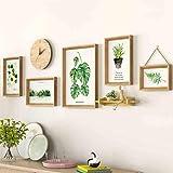 Cadres Photo Mur, 5 Ensembles - Ensemble de Photos, avec horloges Mur de Photos - Combinaison de Mur de Salon Mur irrégulier Photo Mur, décoration de la Maison
