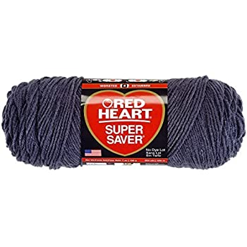 Red Heart Super Saver Yarn 100/% Acrylic 7 oz In Charcoal