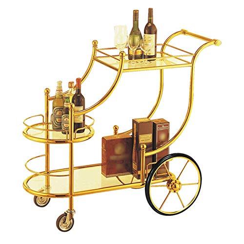 ZXCVBNM Bar Cart for Home Mobile Metal Wine Cart on Wheels for Bar Kitchen Rolling Kitchen cart Kicthen Bar Serving Cart Kitchen cart with Storage