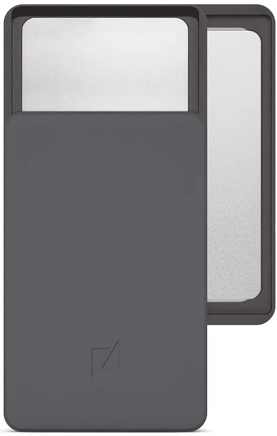 Zenlet 2+ Aluminum RFID Blocking Wallet with double compartments (Space Grey)