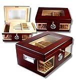 Lifestyle-Ambiente Humidor V-1320 Oasis XL Coffret à cigares en bois et cristal