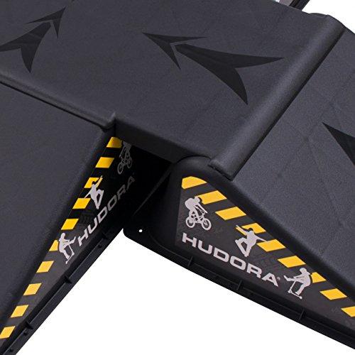 Hudora Unisex's Skater 5 Pieces Ramp Set, Black, One Size