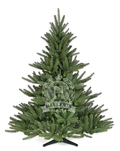 Hallerts Original Spritzguss Weihnachtsbaum Bolton 120 cm Edel Nordmanntanne - zu 100% in Spritzguss PlasTip® Qualität - schwer entflammbar nach B1 Norm, Material TÜV und SGS geprüft