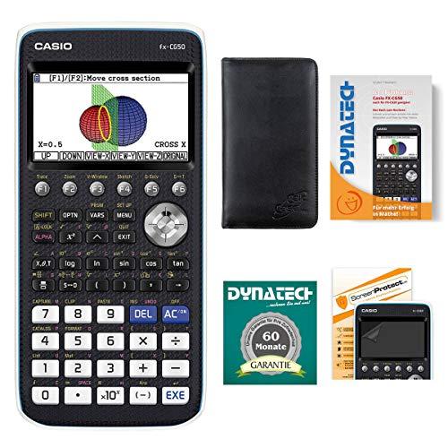 Casio Taschenrechner FX-CG 50 Grafikrechner + Schutztasche + Buch + Displayfolie Garantie auf 60 Monate - wissenschaftlicher Schulrechner Nicht programmierbar Farbdisplay Schule Batterie