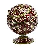 Oumefar - Cenicero de bola con tapa para cenicero, decoraci�