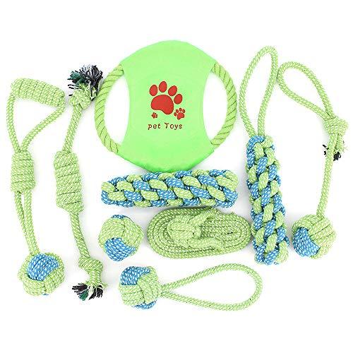 DingGreat 9Pcs Hundeseile Hundespielzeug, Spielseil für Haustiere, Interaktives Kauspielzeug Spielzeug,Vorteilhaft für die Zahnreinigung des Hundes, für Welpe Kleine/Mittlere Hunde