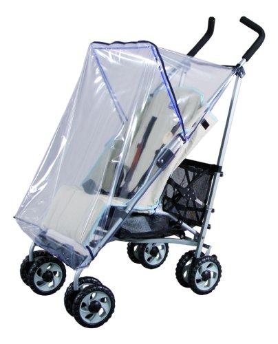 sunnybaby 10094 - Universal Regenverdeck, Regenschutz, Regenhaube | passend für Buggy ohne Dach | glasklar | schadstofffrei | Windschutz | Qualität: MADE in GERMANY