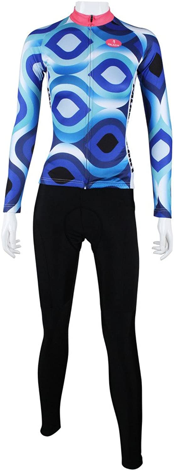 PaladinSport Women's Polyester Breathable blueee Bike Clothing