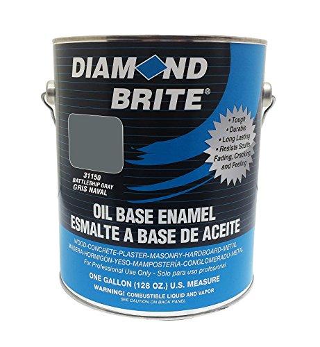 Diamond Brite Paint 31150 1-Gallon Oil Base All Purpose Enamel Paint Battleship Grey