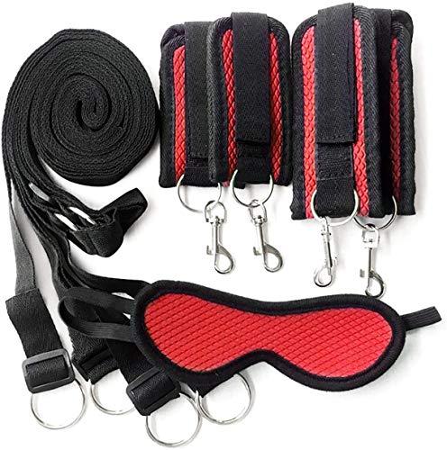 Juego de accesorios de ropa roja para ejercicio de 2 piezas Arnés para el cuerpo Conjunto deportivo Bɔndágé Conjunto de cuero Séx Ṫọy Cöûplè Kîtš S&M