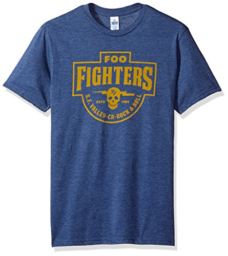 FEA Men's Foo Fighters S.F. Valley Mens T-Shirt, Heather Navy, Large