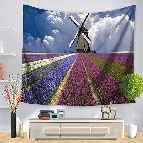 Tapiz para colgar en la pared, paisaje natural, bosque, arte, alfombra, manta, estera de yoga, tapiz decorativo para el hogar, 180x180cm