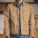TIYKI Jacke Herren Canvas Baumwolljacke Frühlingsarbeitsjacke Khaki