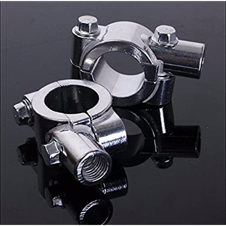 ULTECHNOVO Pair of Motorcycle Mirror Mount 10mm 7//8 Inch Aluminum Handlebar Mirror Mount Clamp for 22mm Handlebar Mirror Mount Holder Calmp for Moto,Bicycle