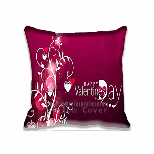 Happy Valentine Days Square Digital Printed Cushion Cover Throw Pillow Case Pillow Sham For Decor Decorative Home Sofa Bedroom 18x18inch