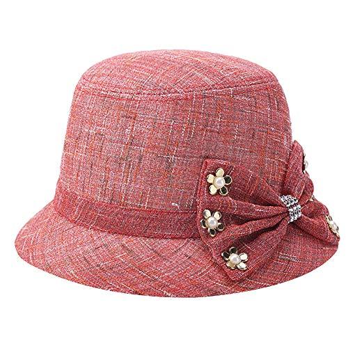 Mujeres 1920s Vintage Sombrero Cloche Gorras para Mujer Vintage Sombreros de Primavera/Verano