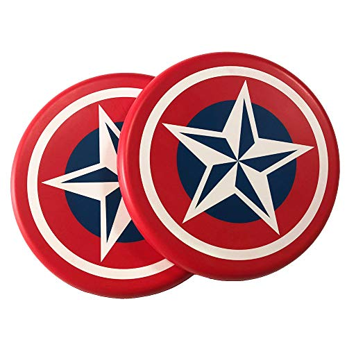 Systreek 2 Pack Soft Frisbees Round Edge Foam Frisbee Flying Frisbee Disc Game Indoor or Outdoor Frisbee for Kids Adults Friends and Family Perfect for ReactionAgility Red