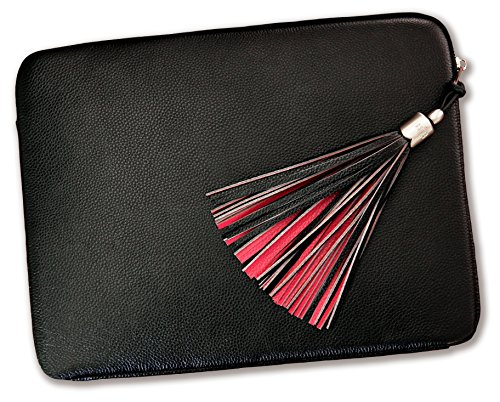 Laptop Case 13 Inch Laptop Sleeve - Luxury Designer Handmade Genuine Leather Laptop Case Cover for MacBook Pro Air Laptop Bag for 12 Inch - 13. 5 Inch Lenovo Dell Hp Asus Acer Chromebook