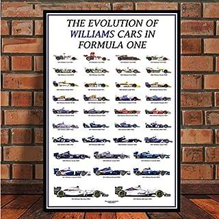 Formula 1 Racing Cars World Champion Drivers Poster Wall Art Carteles e Impresiones Pintura sobre Lienzo para la habitación Decoración para el hogar 40 * 60 cm sin Marco
