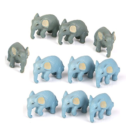 10pcs Miniature Dollhouse Bonsai Fairy Garden Micro Elephant Landscape Decor