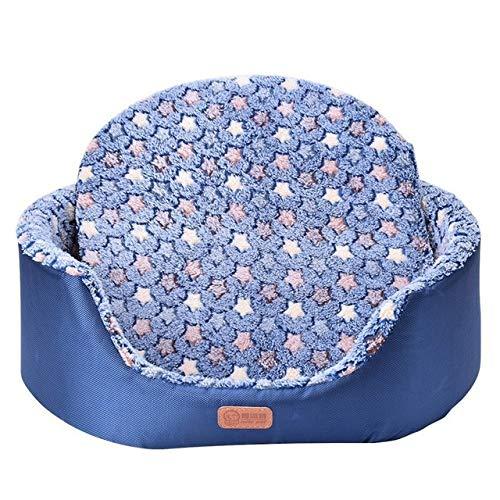 Alle Saison Pet Hund Bett Abnehmbare Welpen Katze Haus Stern Pfote Komfortable Pad Sofa Matte Korallen Fleece Bett für Navy XL