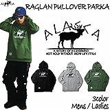 ALASCA パーカー スノーボード RAGLAN PULLOVER PARKA moose 2016-17 スノボー ウェア スノボ スキー 裏起毛 アラスカ メンズ レディース ALASKA (1.BLACK, S)