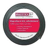 Lámina magnética autoadhesiva Magstick® 424 de 5 metros I Banda magnética adhesiva cortable para el hogar oficina steelbook moldes de estampado I mag_126