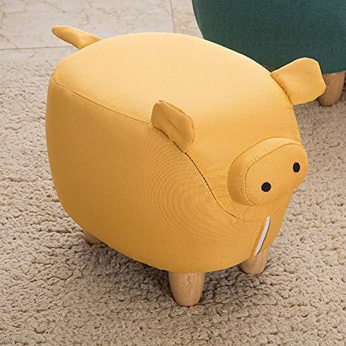 WENYC Kruk, Cartoon kinderstoel, creatieve persoonlijkheid, huisdier, schoenenbank geel