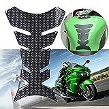 WYNMOTO Motorcycle Universal Gas Tank Pad Protector Decal and Sticker Fuel Gas Tank Protector Fit For Yamaha/Kawasaki/Suzuki/Honda/Ducati/BMW Protector Decal Tank Stickers (Carbon Fiber Look)