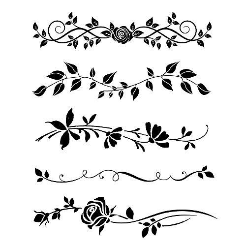 Stamperia Schablone Blumenranken 20x25cm 3D wiederverwendbar