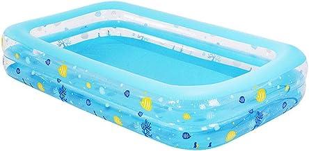HEROTIGH Piscinas Hinchables Grande Familiar Inflable Piscina para Adultos Niños Piscina De Bolas Marinas De Dos Anillos Engrosada 262X175X51Cm Inflatable Pool