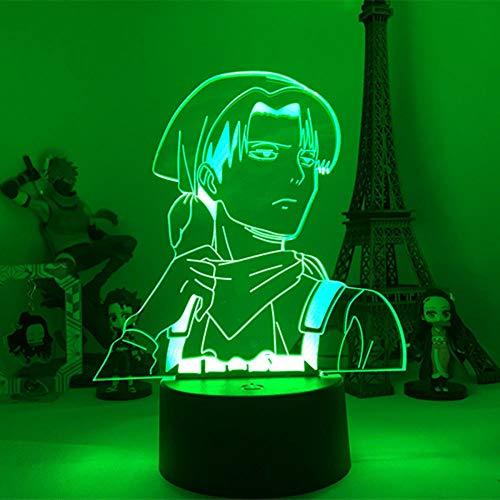 3D Night Lights for Girls Boys Angriff auf Titan Acryl Tischlampe für Home Room Decor Licht Cool Kid Kind Geschenk Kapitän Levi Ackerman