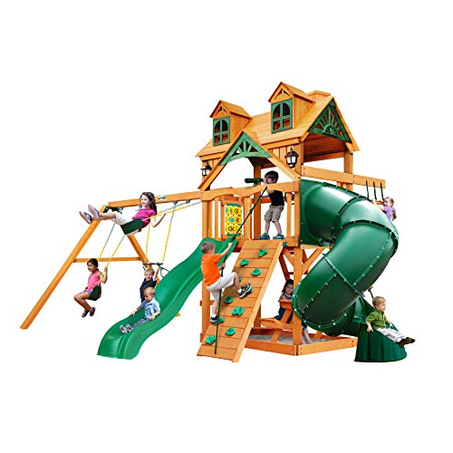 Gorilla Playsets 01-0046-AP Mountaineer Wood Swing Set with...