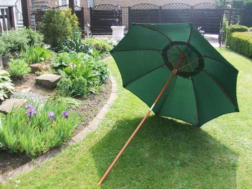 Spetebo Bamboo Parasol 2.0 Vert - Pratique Parapluie de Plage dans Un Sac de Transport