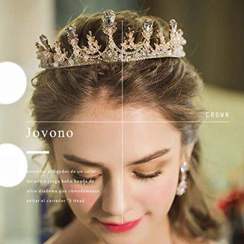 Jovono Mariage couronnes et diad/ème pour mari/ée Argent Couronne Diad/ème Accessoires Cheveux pour femme