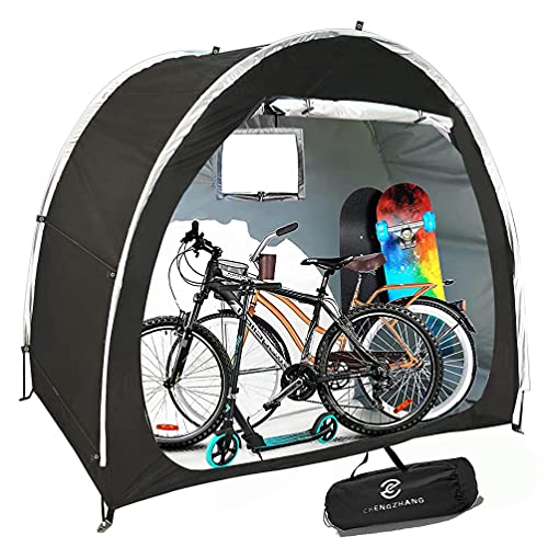 CZ CHENGZHANG Bike Storage Tent, Bike Tent, 2-3 Adult Bicycle Cover Waterproof Outdoor Storage, Garden Bike Cover Bicycle Storage, Bike Shed Bicycle Shed, Bike Shelter, Mobility Scooter Cover