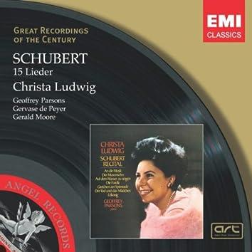 Schubert - 15 Lieder