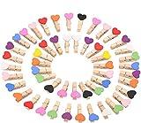 LIZHIGE Pinzas madera100 pcs Pinzas de Madera Decorativas,Pinzas la Ropa Naturales para Colgar Fotos Regalos decoración Mini Pinzas