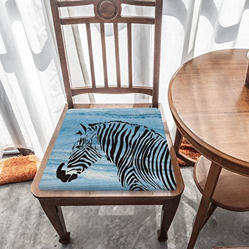 Memory Foam Sitzkissen Zebra Grafik Durable Fabric Universal Square Kissen Home Decoration Stuhlbezug