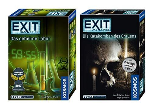 EXIT Kosmos Spiele 692742 Spiel: Das geheime Labor + Kosmos 694289 Spiel - Die Katakomben des Grauens - das 2-teilige Abenteuer in 1 Box